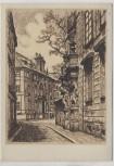 Künstler-AK Ragimund Reimesch Prag Clam Gallas Palais am Marienplatz in der Altstadt Tschechien VDA Nr. 2 1935