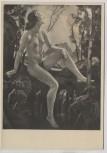 Künstler-AK Ernst Liebermann Najade an der Quelle Akt München Haus der Deutschen Kunst HDK 408 1935