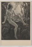 VERKAUFT !!!   Künstler-AK Ernst Liebermann Najade an der Quelle Akt München Haus der Deutschen Kunst HDK 408 2 1935