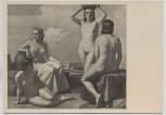VERKAUFT !!!   Künstler-AK Ivo Saliger Am Gestade Akt München Haus der Deutschen Kunst HDK 447 1935