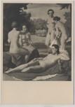 VERKAUFT !!!   Künstler-AK Ivo Saliger Wien Bad der Diana Akt München Haus der Deutschen Kunst HDK 83 1935
