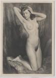 VERKAUFT !!!   Künstler-AK Wilhelm Hempfing Kniender Akt Frau München Haus der Deutschen Kunst HDK 405 1935