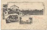 Gruss aus Wallersdorf Totalansicht Hauptstrasse Kaufhaus Fuesl Brauerei Gerstl 1900 RAR