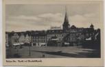 AK Foto Bülow Pommern Markt mit Elisabethkirche Bytów Polen 1940