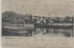 VERKAUFT !!!   AK Rothenstein an der Saale Ortsansicht mit Brücke bei Jena 1904