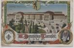 Künstler-AK Leipzig Hauptbahnhof XII. Deutsches Turnfest 1913