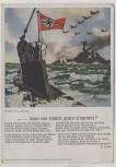 Lied-Karte denn wir fahren gegen Engeland H.Löns U-Boot mit Fahne Horn's Kunstkarte Nr. 12 1940 RAR