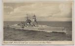 AK Foto Panzerschiff Admiral Graf Spee paradierend vor dem Führer Nr. R 37 1940