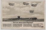 Liedkarte Foto denn wir fahren gegen Engeland H. Löns U-Boot Flieger Verlag Horn 1940