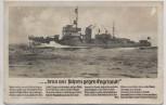 Liedkarte Foto denn wir fahren gegen Engeland H. Löns Minensuchboot Verlag Horn 1940