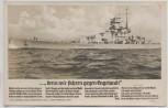 Liedkarte Foto denn wir fahren gegen Engeland H. Löns Schlachtschiff Scharnhorst Verlag Horn 1940