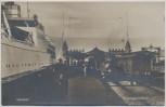 AK Foto Gedser Faergehallen Fähre mit Zug Gleis Dänemark 1930 RAR