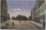 AK Pforzheim Luisenstraße Durlacherstraße mit Menschen Feldpost 1915