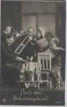 AK Foto Gesangsgruppe Otto Wagner Zeitz Hoch das Geburtstagskind 1914