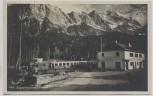 AK Foto Grainau Zugspitzbahnhof Eibsee Bahnhof mit Zug 1935 RAR