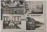 AK Mehrbild Schwerin HOG Mueßer Bucht Gaststätte Innenansicht 1966