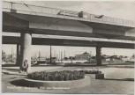 AK Foto Halle / Saale Hochstraße Blick zum Hauptbahnhof 1970