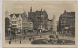 AK Foto Danzig Gdańsk Holzmarkt mit Kriegerdenkmal Polen 1940