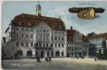 AK Coburg Marktplatz mit Coburg's Specialität 1910