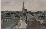 VERKAUFT !!!   AK Schwerin Ortsansicht mit Kirche und Strasse 1910