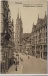 VERKAUFT !!!   AK Nürnberg Königstrasse mit St. Lorenzkirche u. Kunstgewerbehaus L. Ostermayr 1910