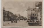 AK Güstrow Eisenbahnstraße mit John-Brinkmann-Brunnen 1920