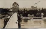 VERKAUFT !!!   AK Foto Worms am Rhein Ernst Ludwig Brücke mit Dom 1929