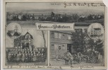 VERKAUFT !!!   AK Gruss aus Wolferborn Pfarrhaus Schule Kirche b. Büdingen 1910 RAR