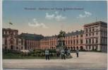 AK Mannheim Schloßhof mit Kaiser Wilhelm-Denkmal und Soldaten 1914
