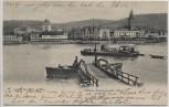 AK Boppard am Rhein Mittlere Stadtpartie mit Fähre Hotel Ackermann und Spiegel 1903