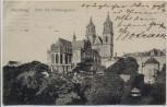 AK Magdeburg Dom mit Präsidialgarten 1911
