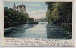 AK Sigmaringen Schloss mit Donau und Brücke 1911