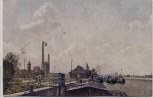 AK Regensburg Luitpoldhafen mit Zellstoff-Fabrik 1916