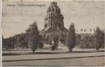 VERKAUFT !!!   AK Leipzig Völkerschlachtdenkmal mit Frau Inflation 1923