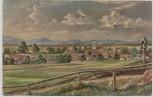 Künstler-AK Gruss aus Oberhaching Deisenhofen Ortsansicht 1913 RAR