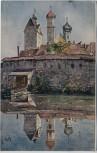 Künstler-AK Gruß aus Isny im Allgäu R. Rath 1913 RAR