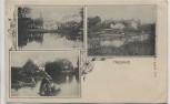 AK Harpstedt Ortsansicht Boote Pferd im Wasser 1911 RAR