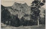 AK Kochel am See Auf dem Weg zum Herzogstand 2 Wanderer 1912