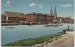 AK Regensburg Landungplatz Donau Schiffe Ortsansicht 1913