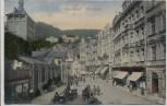 AK Karlsbad Marktplatz viele Menschen Karlovy Vary Böhmen Tschechien 1912