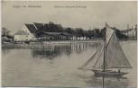 AK Stegen am Ammersee Gasthof u. Brauerei Schreyegg mit Boot 1912