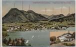 AK Tegernsee mit Panorama Cafe Restaurant Leeberg 1910