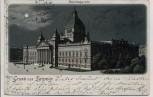 Litho Mondschein Gruss aus Leipzig Reichsgericht 1901