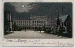 Litho Mondschein Gruss aus Leipzig Universität 1901