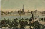 AK Düsseldorf Ortsansicht mit Rhein 1911