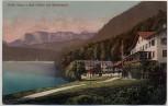 AK Urfeld mit Wetterstein Hotel Jäger am Walchensee b. Kochel am See 1911
