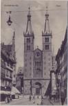 AK Würzburg Dom mit Menschen 1910