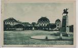 AK Saarbrücken Ulanen Denkmal und Schloss 1928