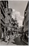 AK Foto Marburg an der Lahn Wettergasse mit Passanten 1960