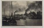 AK Foto Duisburg Ruhrort Hafen mit Schifferbörse viele Schiffe 1935